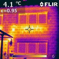 Wärmebildaufnahmen eines Einfamilienhauses
