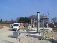 Stahlbetonarbeiten des Containerstellplatzes kurz vor Fertigstellung