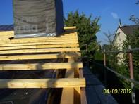 Dachanhebung und Aufsparrendämmung